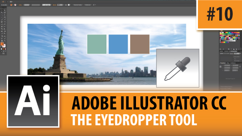 Adobe Illustrator Creative Cloud – The Eyedropper Tool – Episode #10