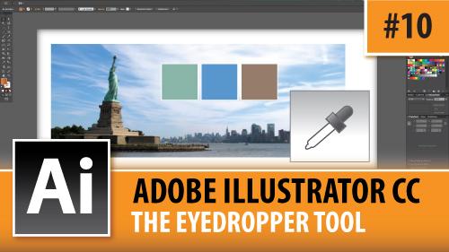 Adobe Illustrator Creative Cloud – The Eyedropper Tool – Episode #10