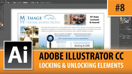 Adobe Illustrator Creative Cloud – Locking & Unlocking Elements – Episode #8