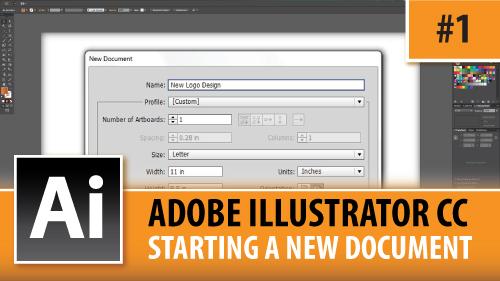 Adobe Illustrator Creative Cloud – Starting A New Document – Episode #1