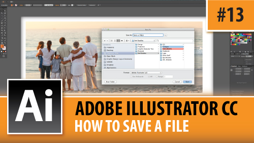 Adobe Illustrator Creative Cloud – How To Save A File – Episode #13