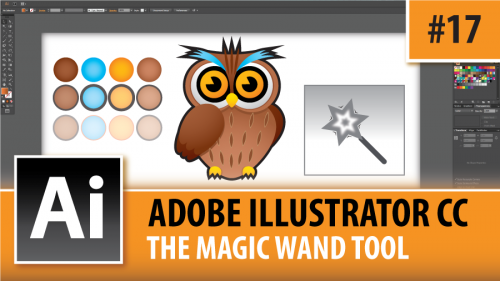 Adobe Illustrator Creative Cloud – The Magic Wand Tool – Episode #17