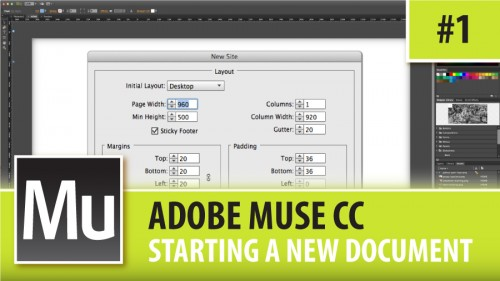 Adobe Muse CC – Starting A New Document – Episode #1