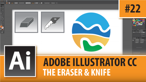 Adobe Illustrator Creative Cloud – Eraser & Knife Tools- Episode #22