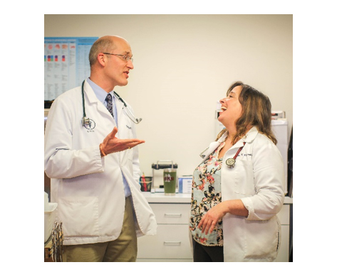 Dr. Tim Withers and Dr. Alison Rhoades