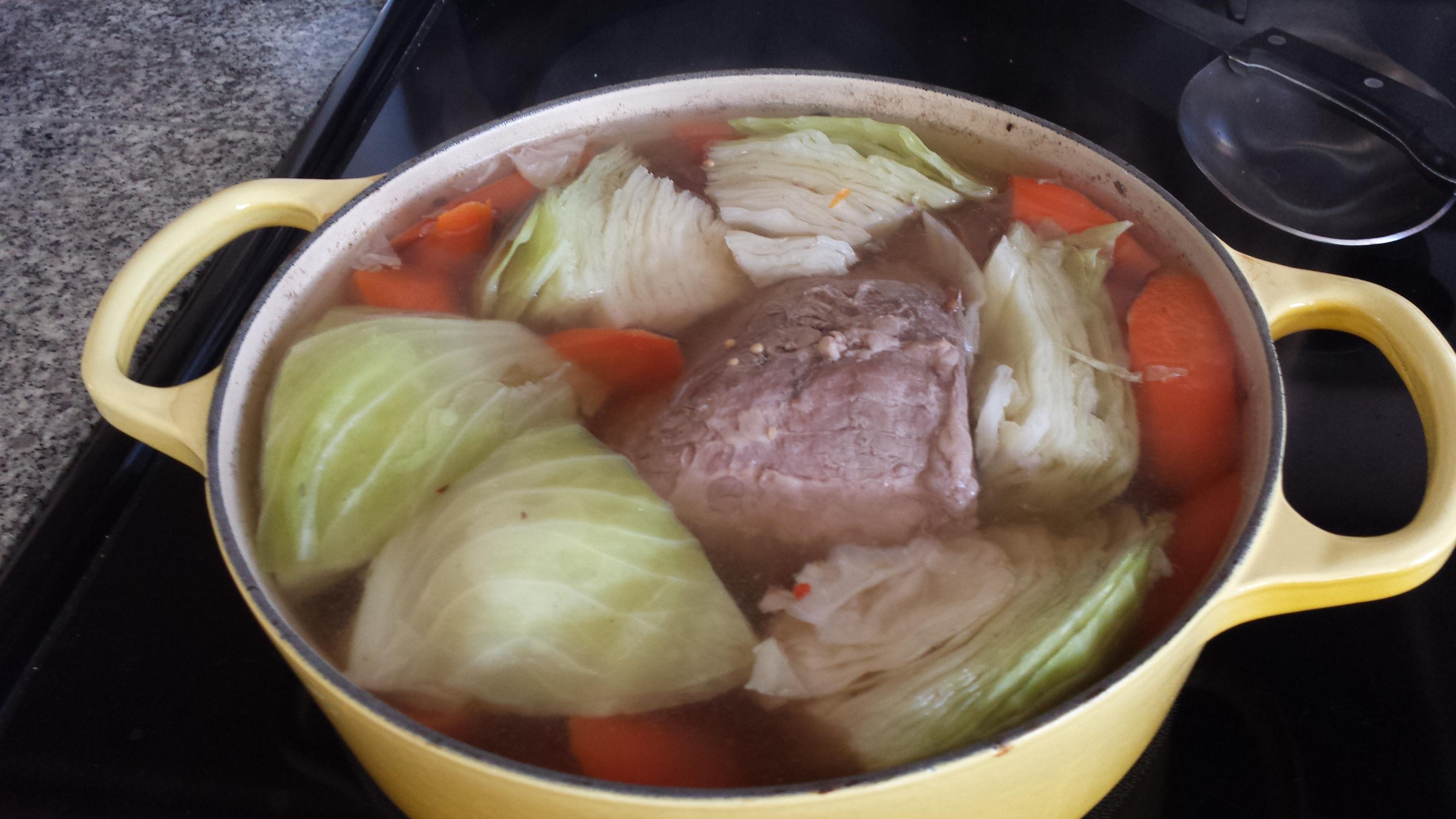 Cornbeef cooking