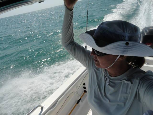 Josee on big boat splash