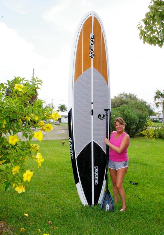 josee with board up