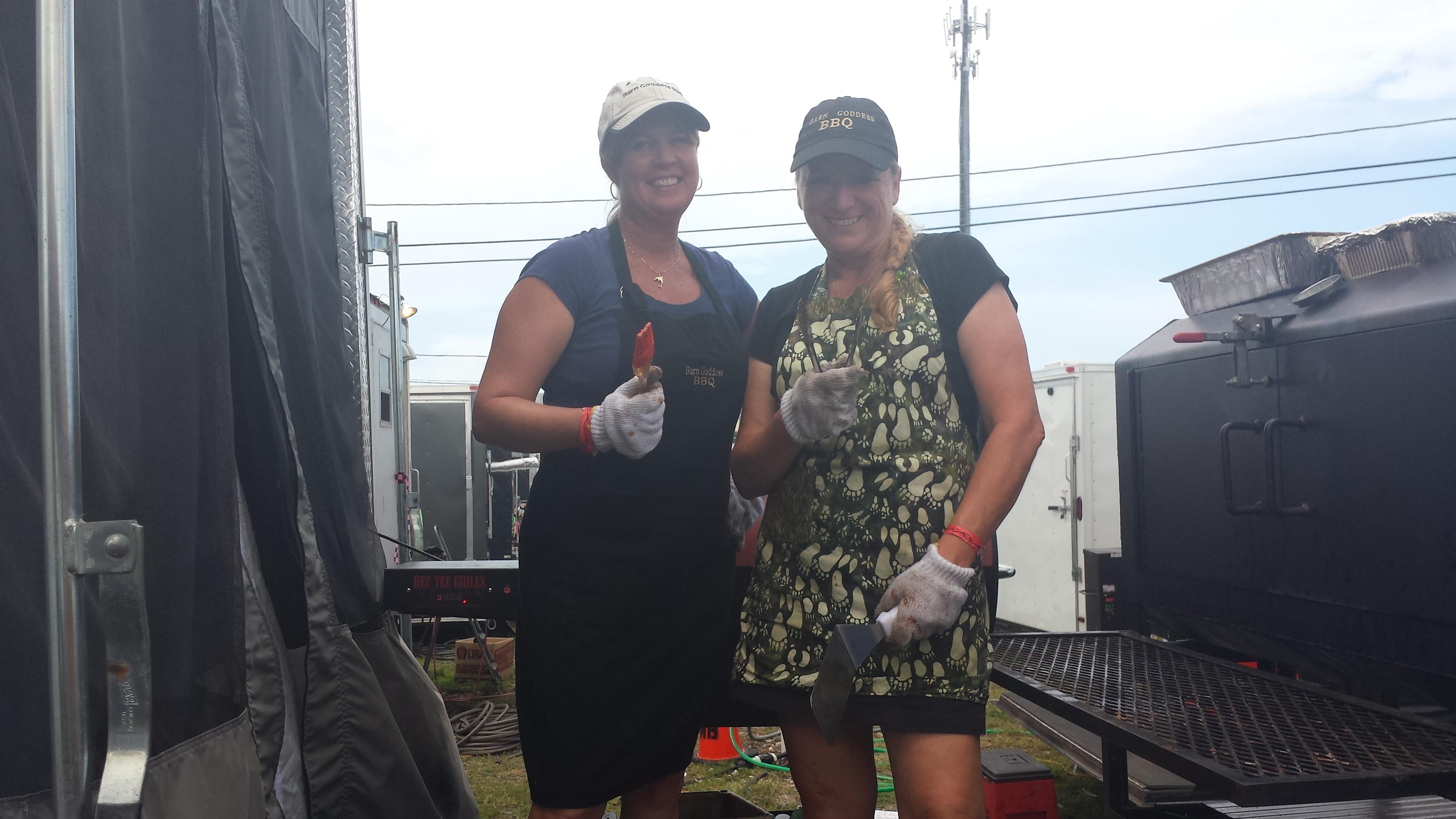 Me and Lori smoking bbq