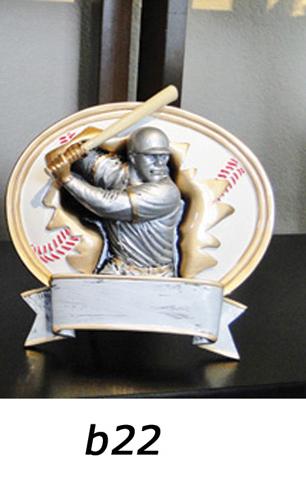 Baseball Trophy Plaque – b22