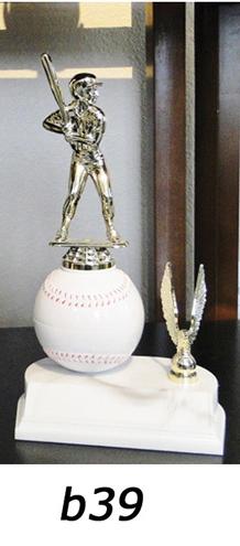 baseball action trophy