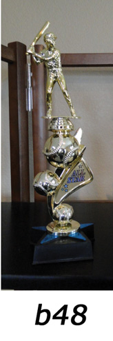 Baseball Action Trophy – b48