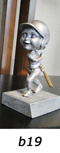 Baseball Bobblehead Trophy, Girls – b19