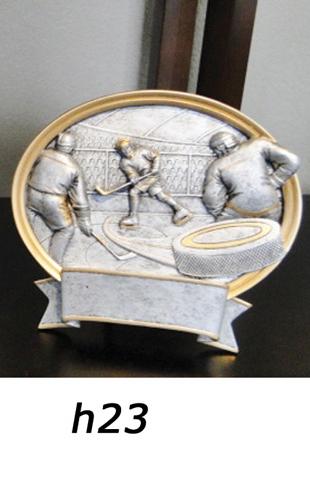 Hockey Trophy Plaque – h23