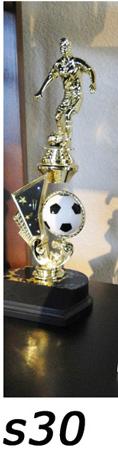 soccer action trophy