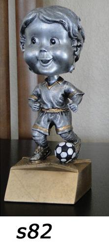 Soccer Bobblehead Trophy, Boys – s82