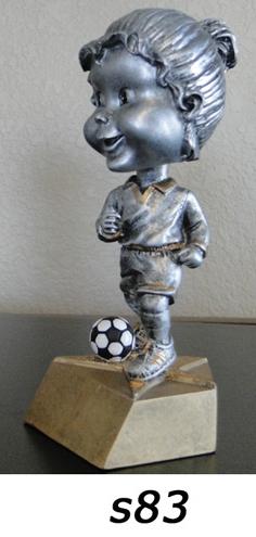 Soccer Bobblehead Trophy, Girls – s83