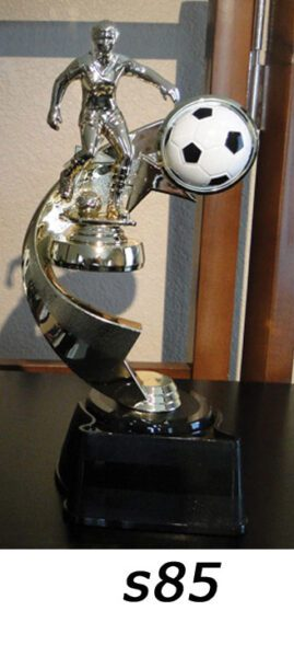 Soccer Action Trophy with ball – s85