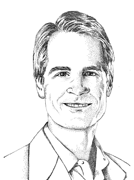 sketch styled head shot of Jim Bromley