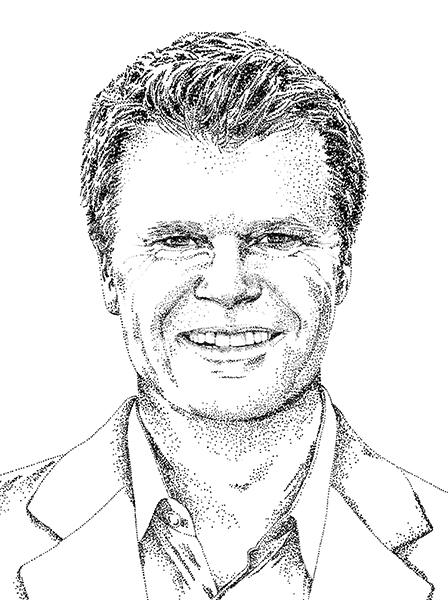 sketch styled head shot of Rob Jenison