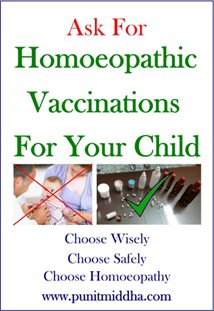 Ask for Homoeopathic vaccinations for your child!