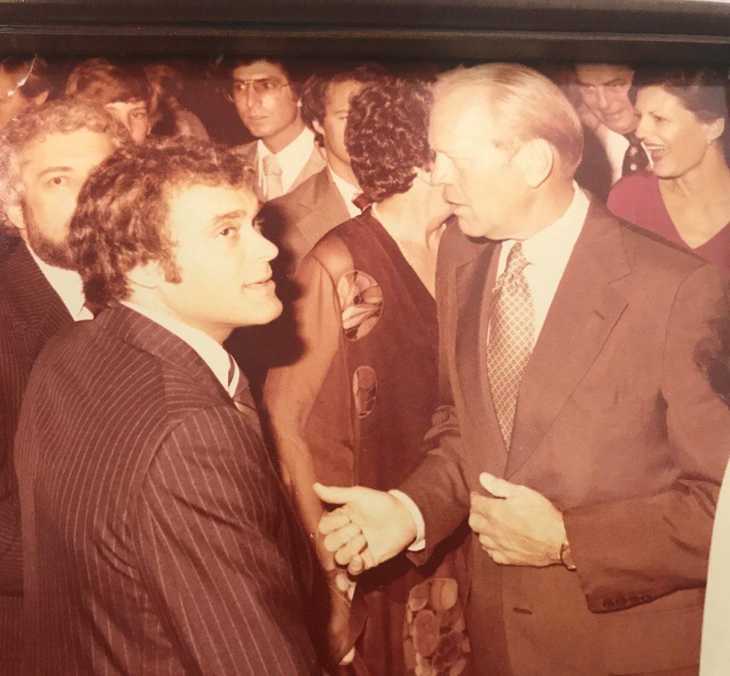 Wayne Avrashow with Gerald Ford