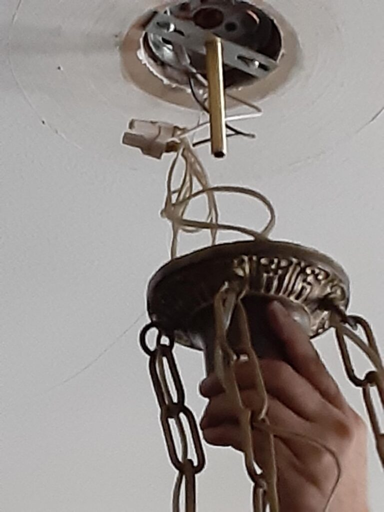 IMG 20200724 143751 768x1024 - DIY: How to Install a Light Fixture