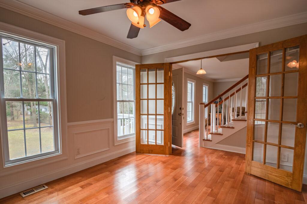 brown wooden framed glass door 3935316 scaled - Recessed Lighting Installation Salisbury NC
