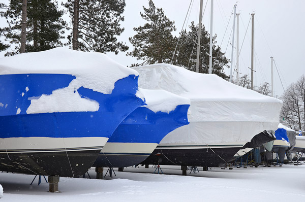 Winterized & Shrink Wrapped Boat