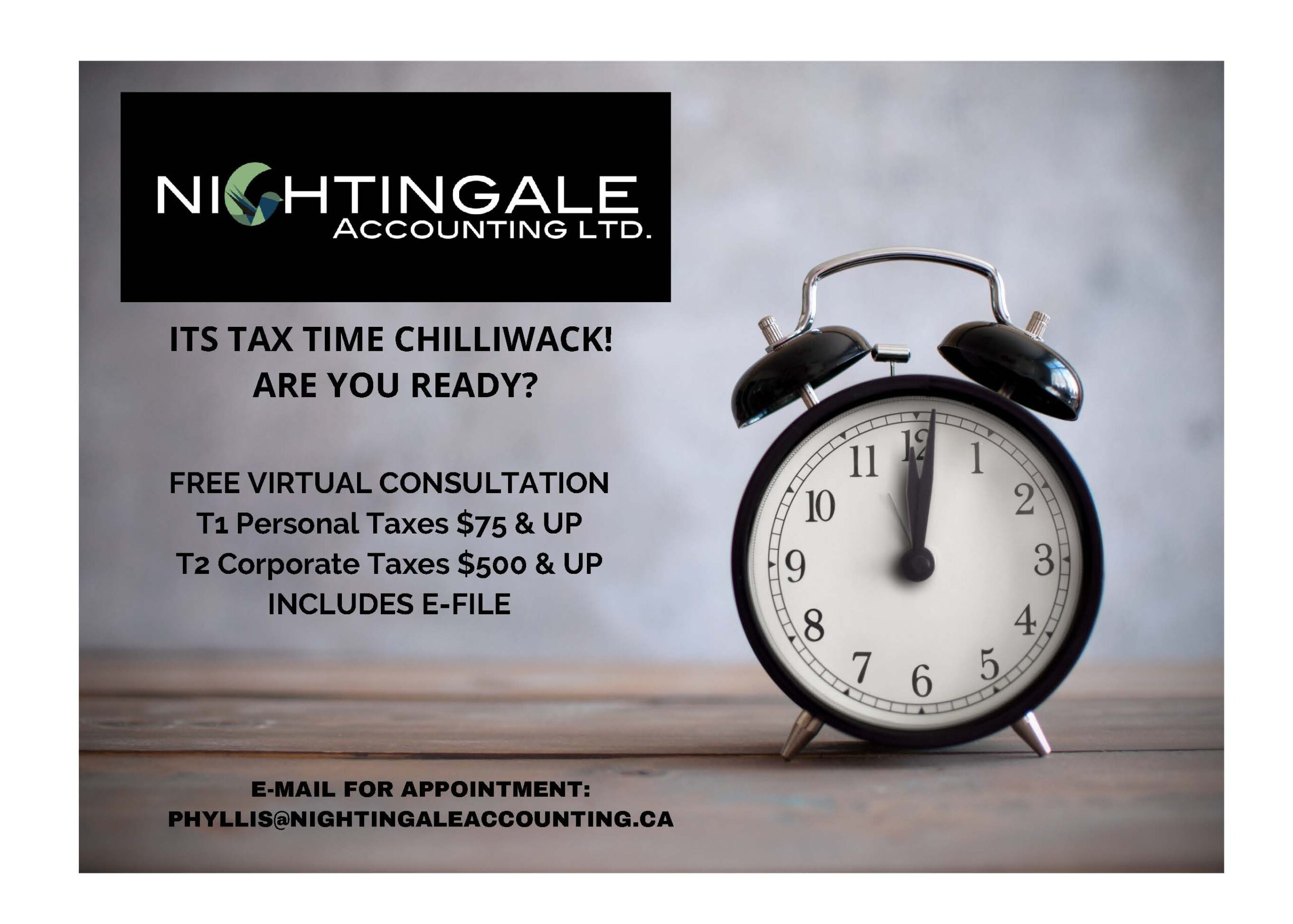Tax Time Chilliwack Ad
