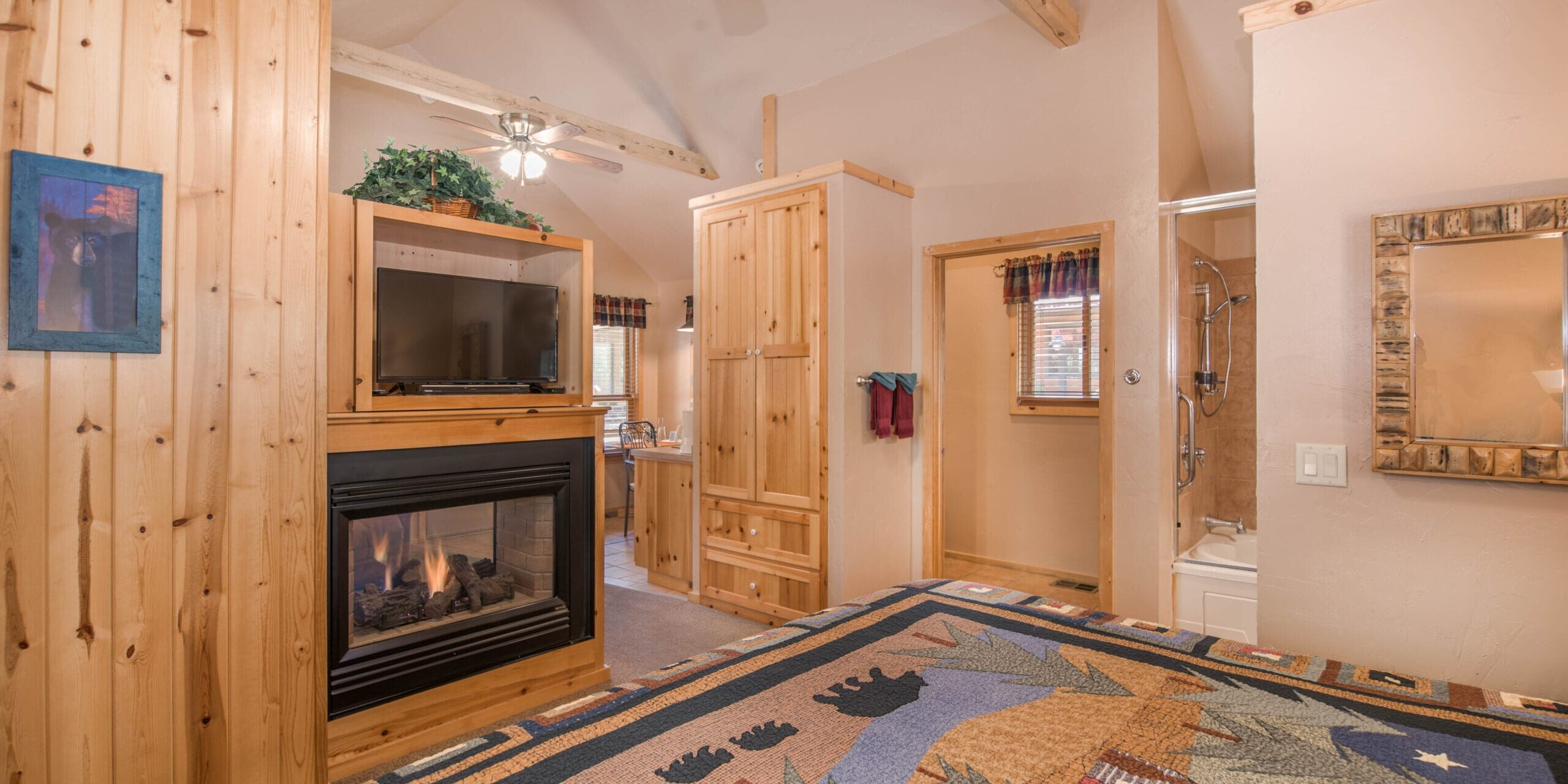 1 cabin - bed-fire-new (1 of 1)