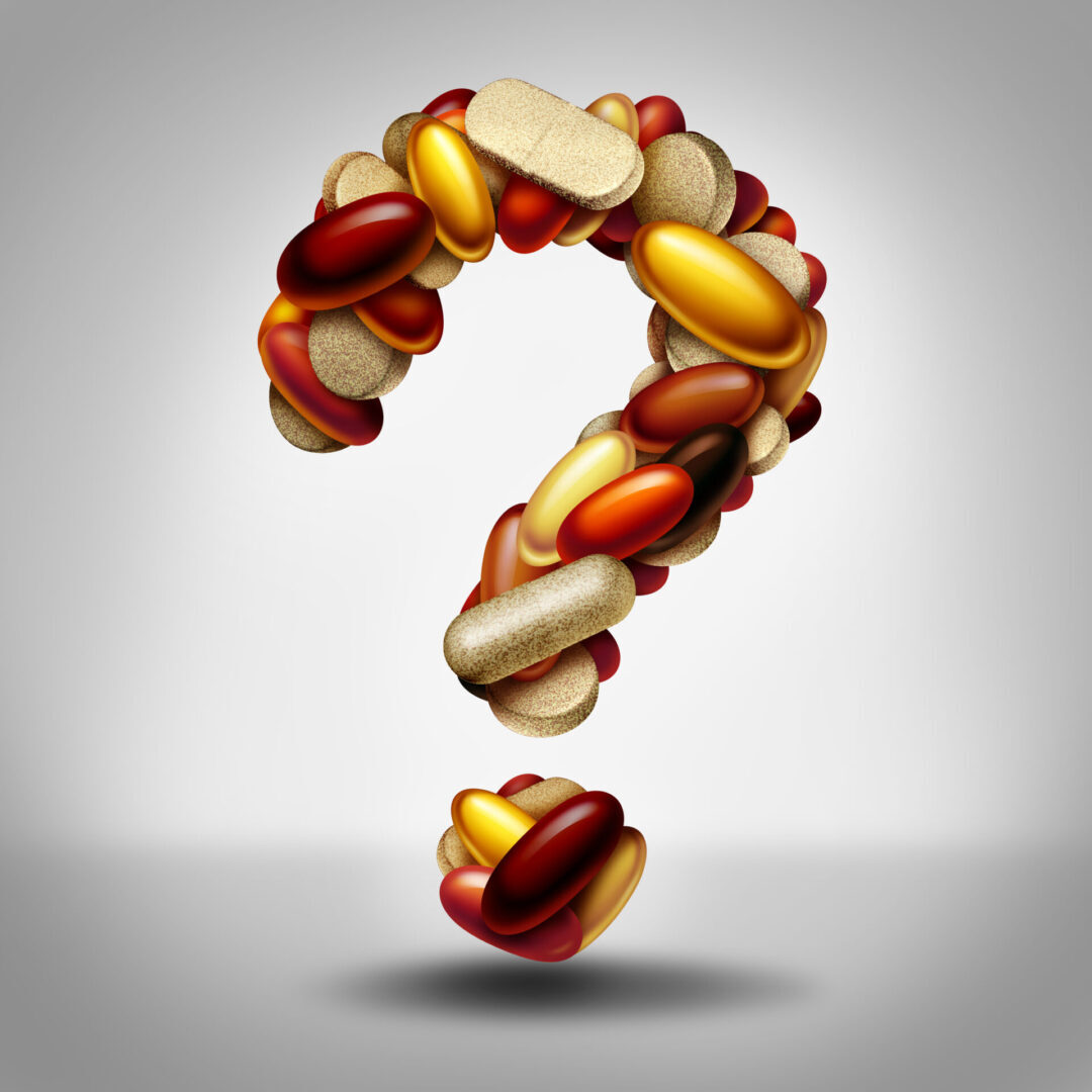 question mark w supplements