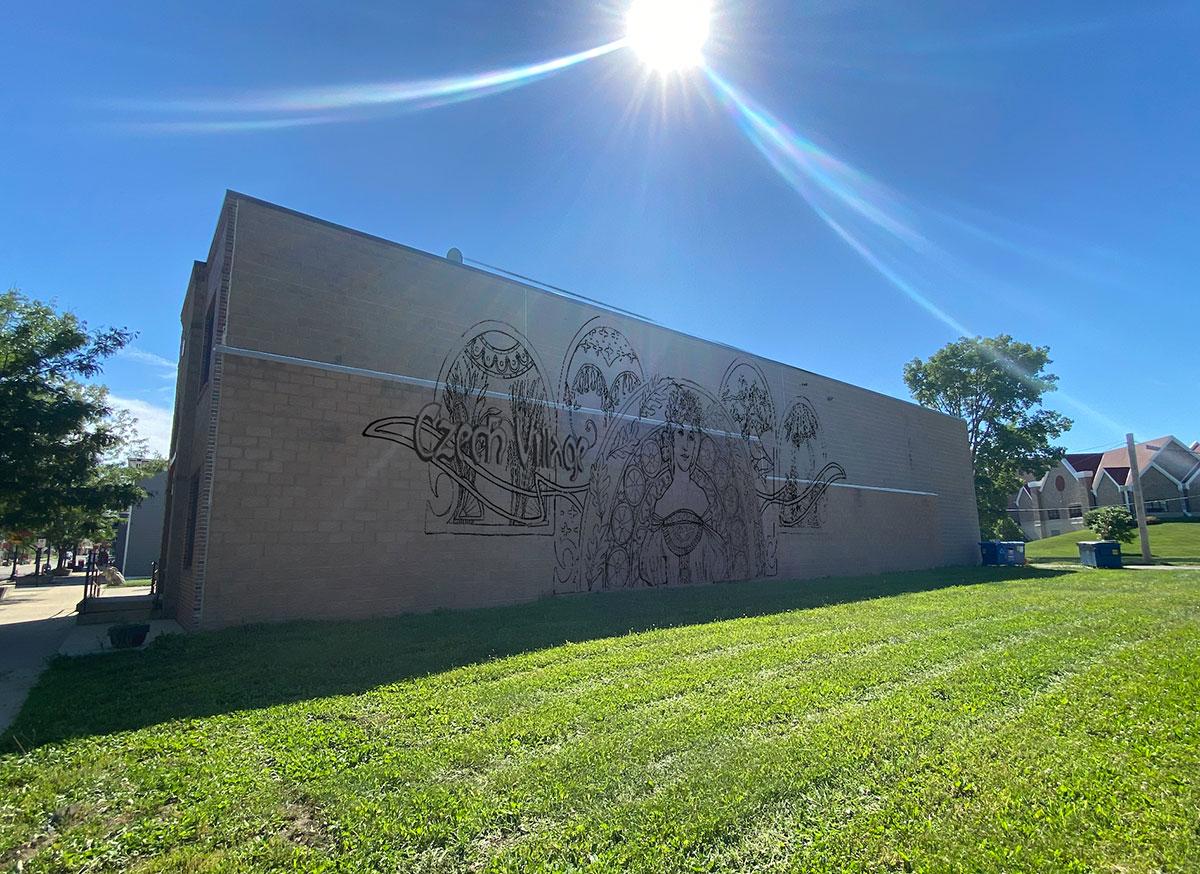Czech Village New Bohemian SSMID Commissions Ali Hval for Gateway Mural
