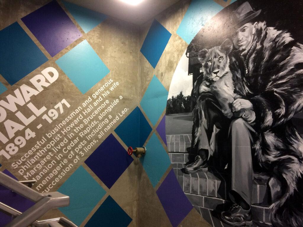 Park Cedar Rapids Parkade Mural