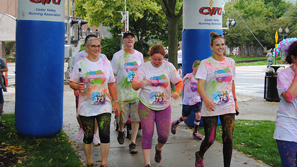 The Crunch Berry Run, fun color run for all ages