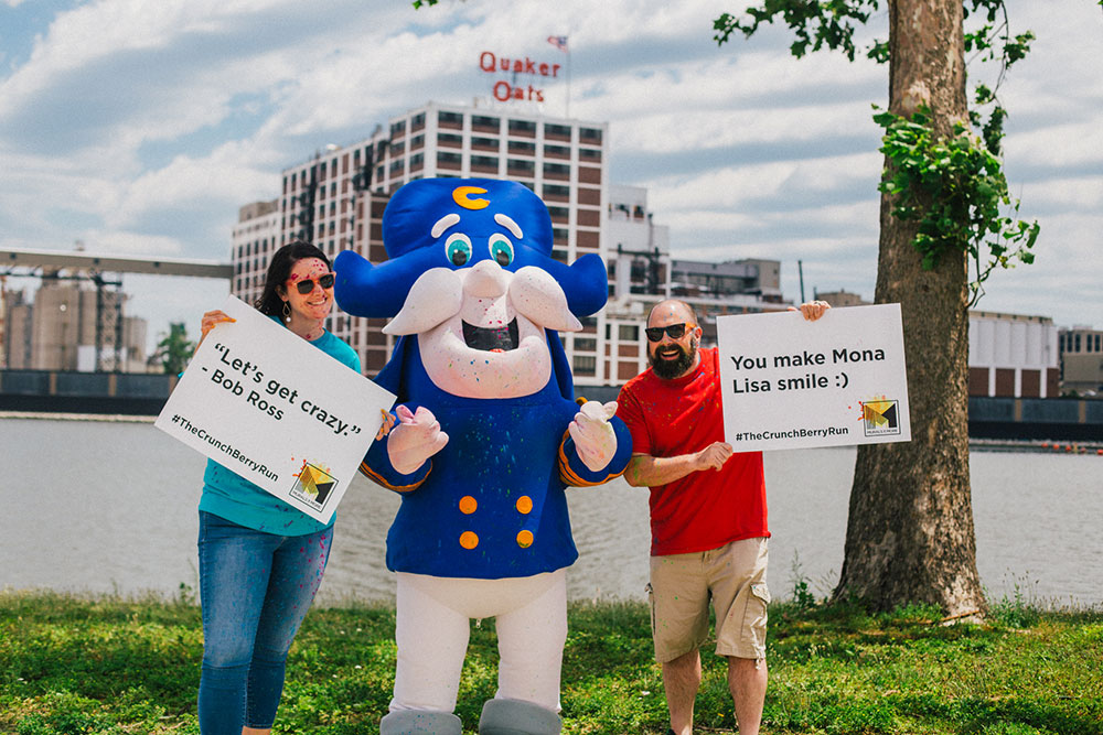 Eric and Clare, The Crunch Berry Run, presented by Murals & More, October 2, 2021, Cedar Rapids