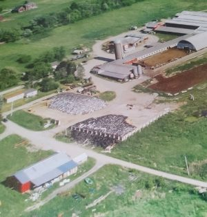 An aerial view of Wilcon Farm