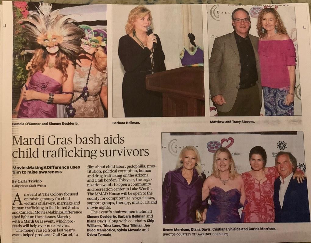 Mardi Gras Bash Aids Child Trafficking Survivors