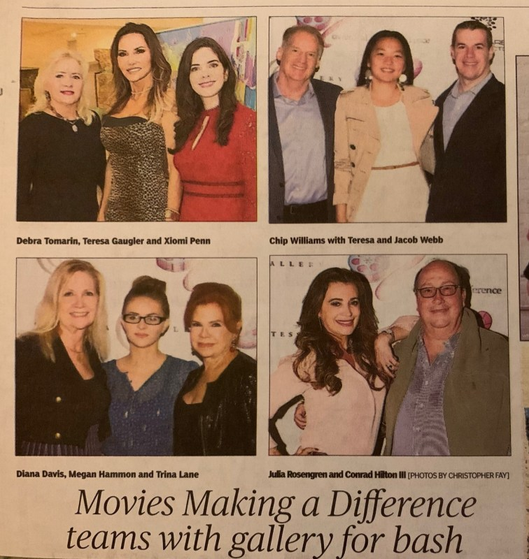 Movies Making A Difference Teams with Gallery for Bash