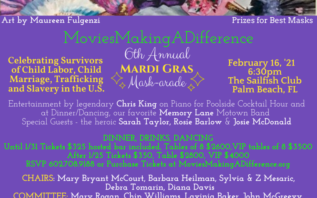 6th Annual Mardi Gras Mask-arade!