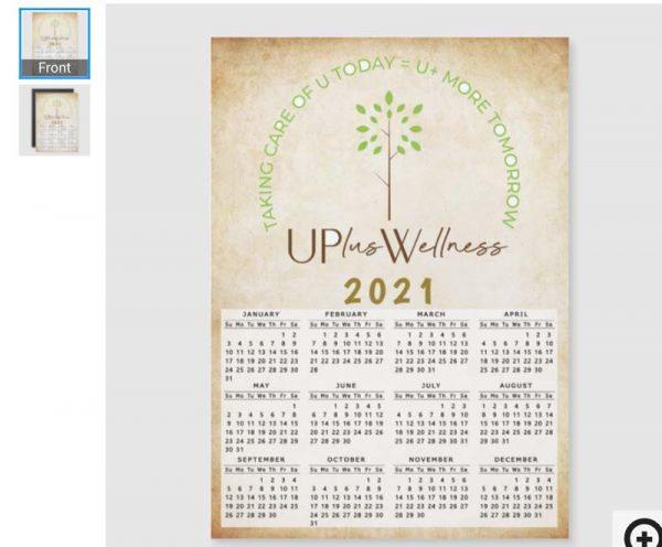 Magnetic Wellness Calendar - Option B
