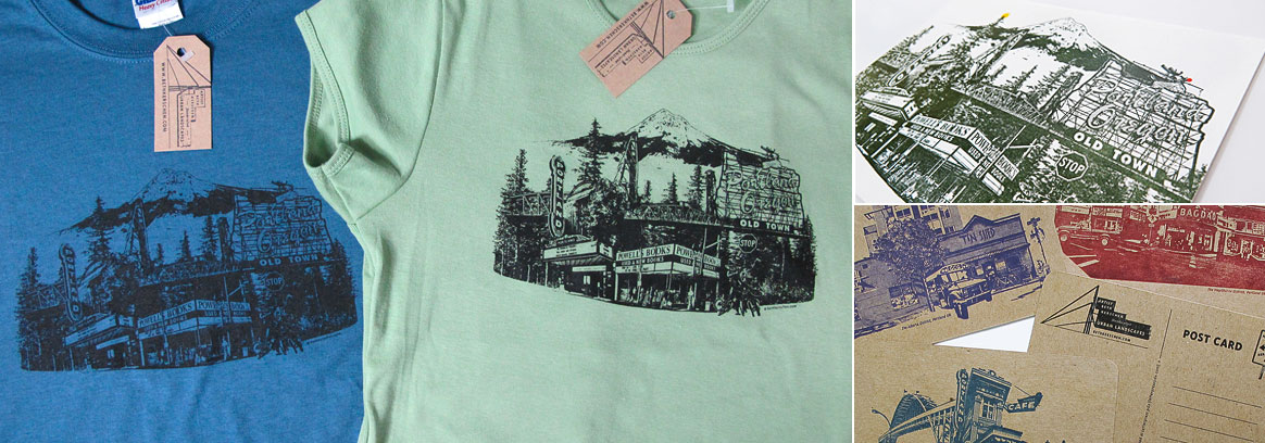 Beth Kerschen's tee-shirts and cards at Powell's