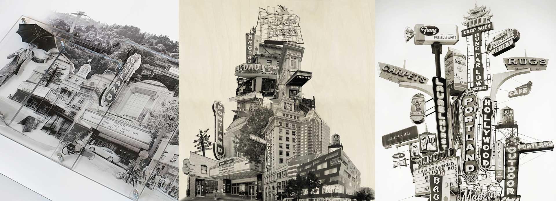 Cityscape Artwork Photomontage