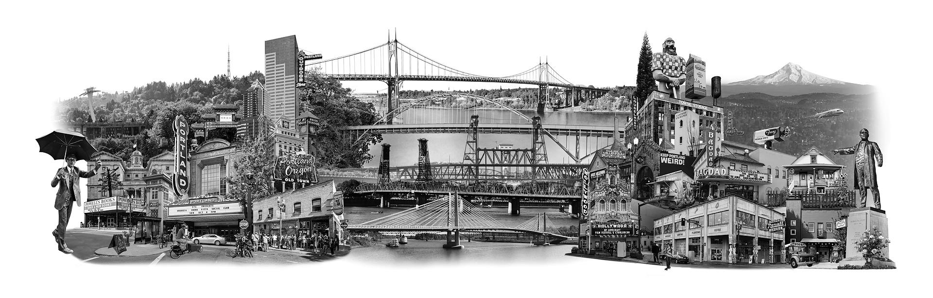 beth kerschen Portland East Meets West photomontage artwork