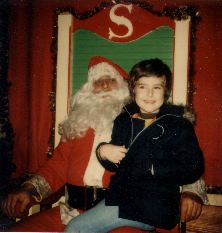 Santa and me in happier times
