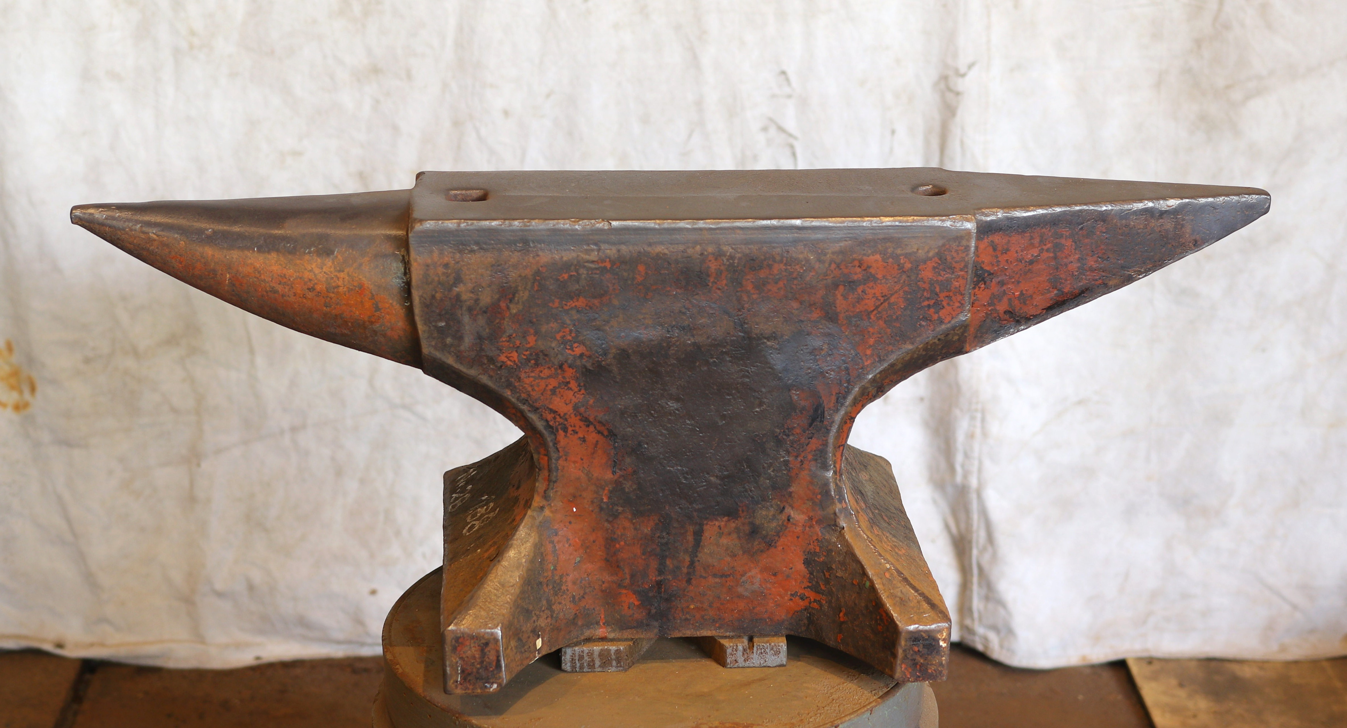 413 lb German anvil for sale - north German style double horned blacksmith anvil