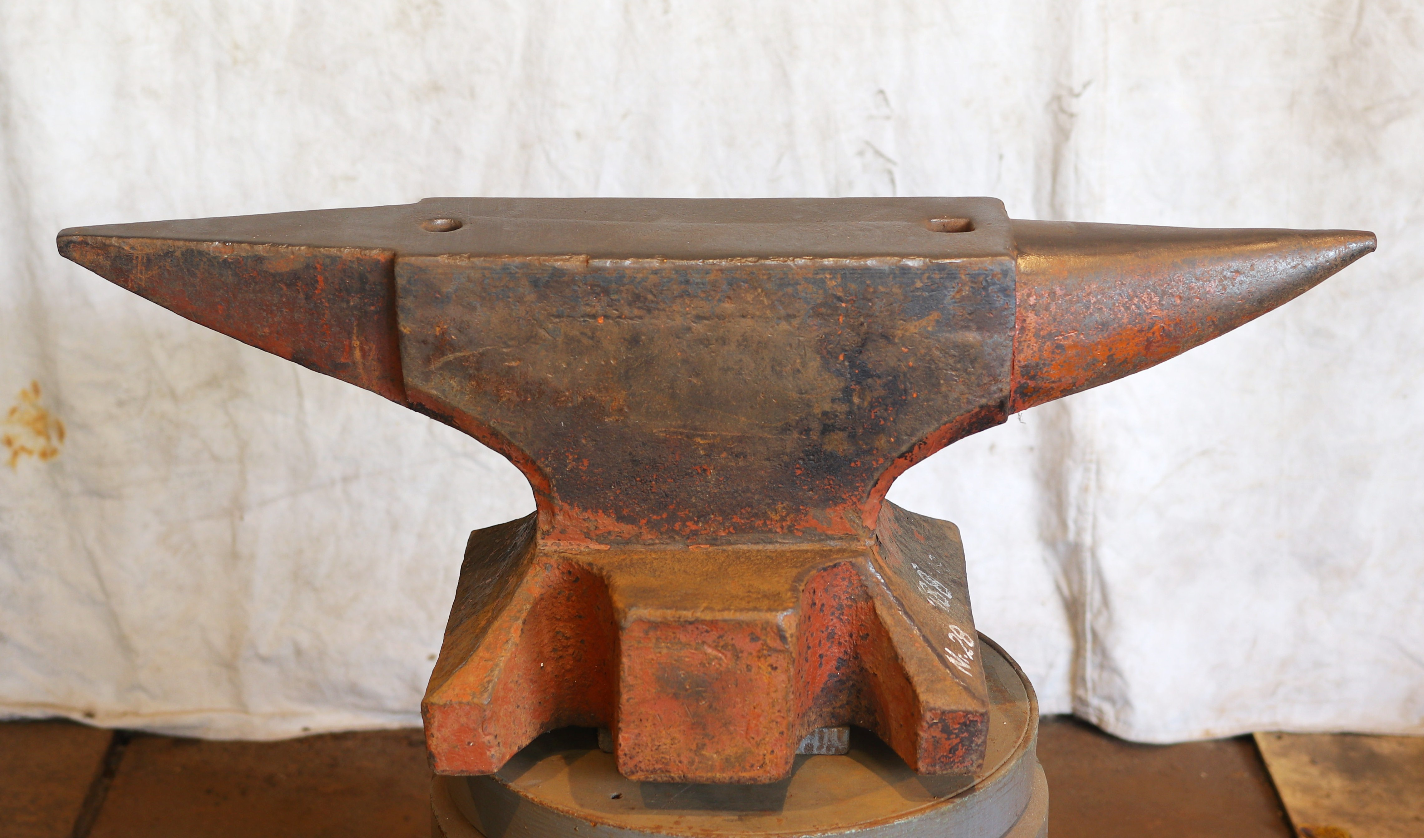 413 lb German anvil for sale- north German style double horned blacksmith anvil