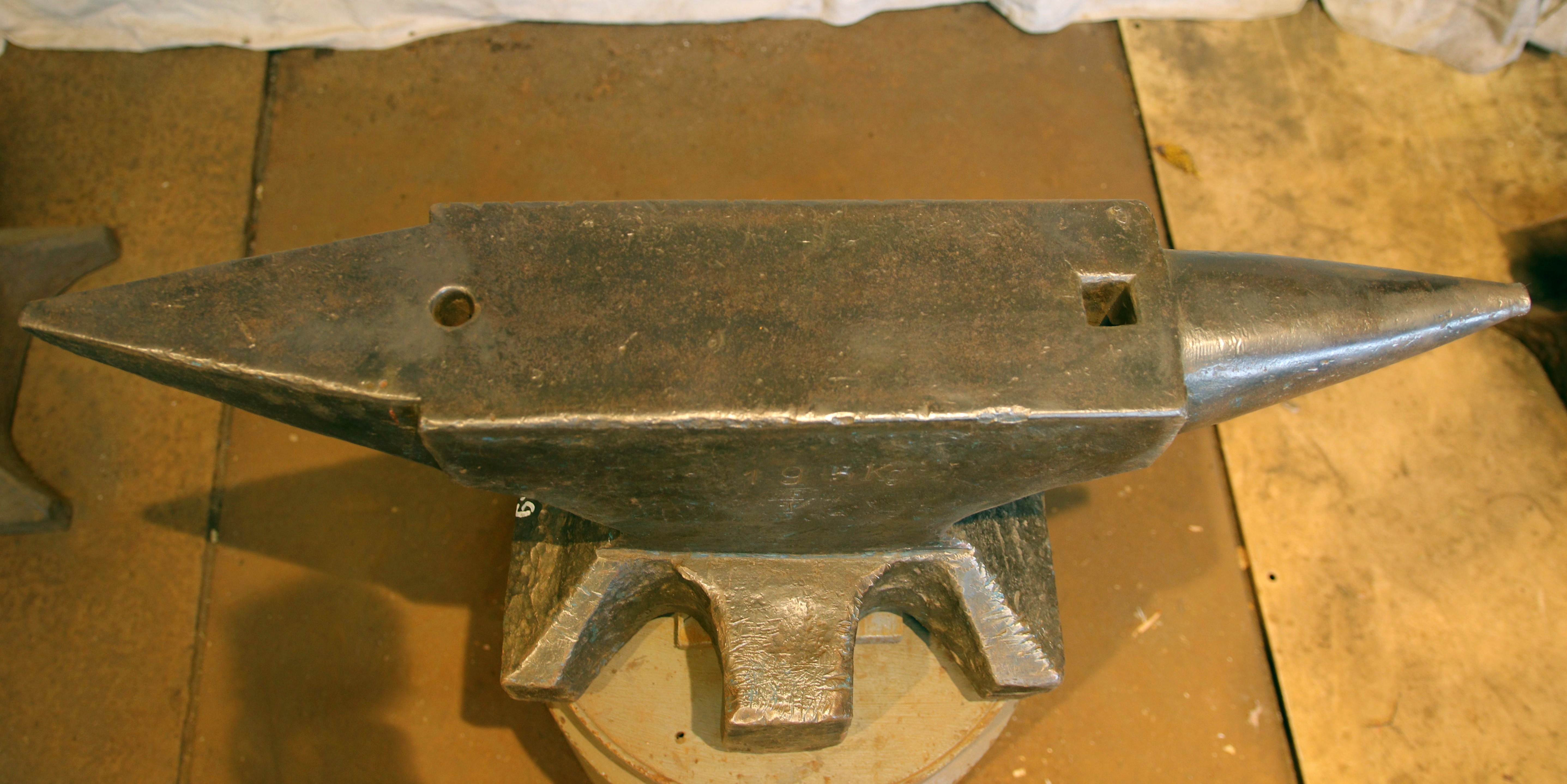 429 lb German anvil for sale- hand forged Peddinghaus north German style Double Horn blacksmith anvil