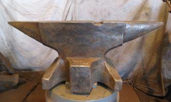 1887 German knife makers blacksmith anvil for sale