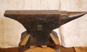 396 lb $2,200 Refflinghaus cast steel anvil